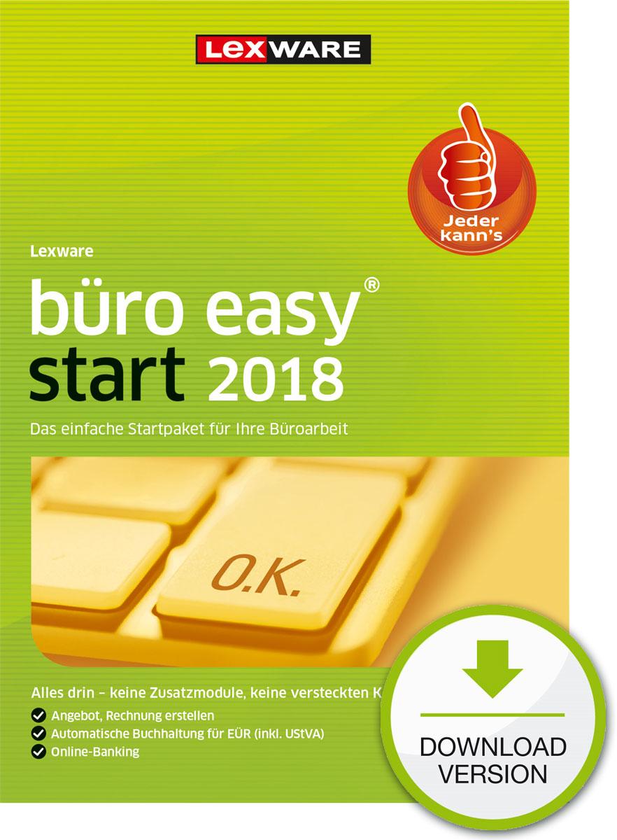 Lexware büro easy start 2018 Download Jahresversion (365-Tage) [Online Code]