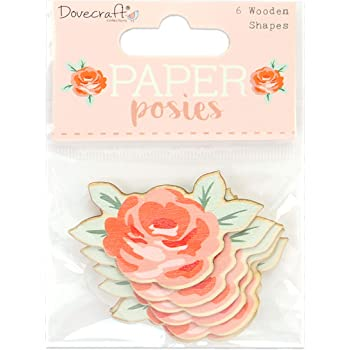 Clear Stamps Dovecraft Paper Posies Paper Craft Collection 6pc