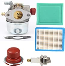 Anzac Carburetor 640004 640014 640025 640025A 640025B 640025C with 36046 Air Filter with 36634 Pre Filter Spark Plug Primer Bulb for Tecumseh Ohh50 Ohh55 Ohh60 Ohh65 Engines