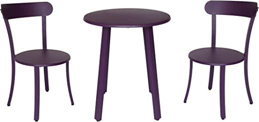 B07CWTBJ2J✅Christopher Knight Home 304957 Kelly Outdoor Bistro Set, Matte Purple