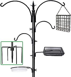 """Best yosager 91"""" x 23"""" Premium Bird Feeding Station Kit, Bird Feeder Pole Wild Bird Feeder Hanging Kit with Metal Suet Feeder Bird Bath for Bird Watching Birdfeeder Planter Hanger Review"""