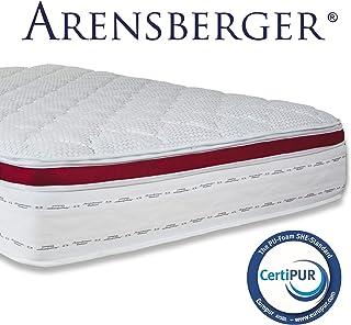 Arensberger ® Deluxx 9 Zonen Taschen-Federkern Matratze mit 3D-Memory Foam, Höhe 30 cm, 90 x 200 cm, Visco & Kaltschaum