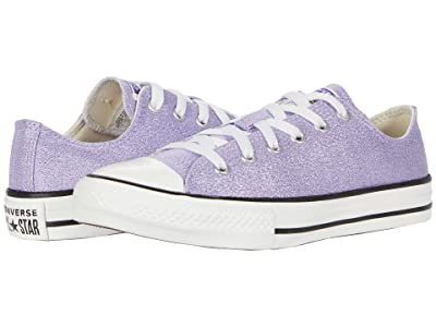 Converse Kids Chuck Taylor(r) All Star(r) Summer Sparkle Ox (Little Kid/Big Kid) (Moonstone Violet/Natural Ivory/Vintage White) Girl