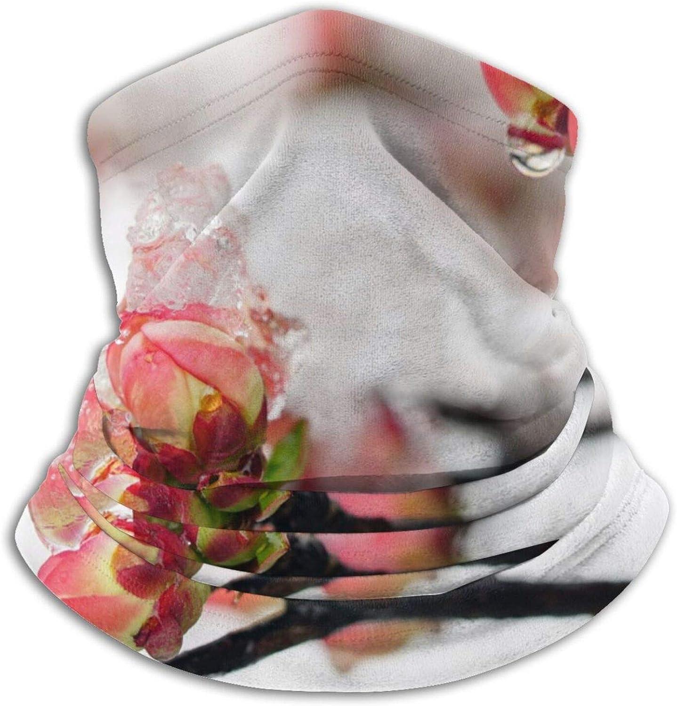 Winter Neck Gaiter Warmer Soft Face Mask Scarf Blooming Winter Plum Outdoor Sports Neck Warmer Headwear for Men Women