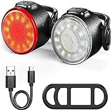 3LED Frontlicht Rücklicht Fahrrad Fahrradlicht USB-Kabel /& Ladegerät