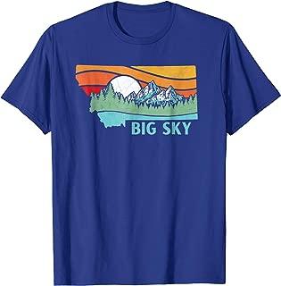 Big Sky Montana Outdoors Retro Mountains & Nature T-Shirt