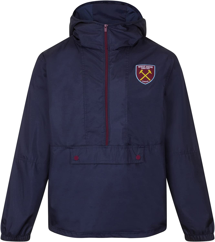 West Ham United Fc Official Soccer Gift Boys Kids Shower Jacket Windbreaker