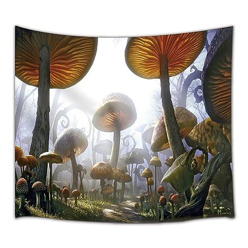 Enchanted Mushrooms Room Decor Wall Clock