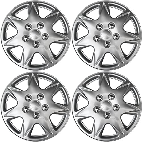 wholesale 17 inch Hubcaps Best for 2005-2006 Chrysler Pacifica - (Set of outlet sale 4) Wheel Covers 17in Hub Caps Silver Rim Cover - Car Accessories for 17 inch Wheels - Snap On Hubcap, Auto Tire Replacement new arrival Exterior Cap outlet online sale