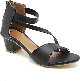 Gelsin women Black Synthetic Sandal (ART-1002)