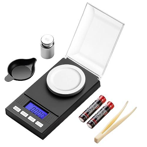 Zilink Digital Milligram Pocket Scale 50g / 0.001g Pro Jewelry Lab Carat Powder Scale with