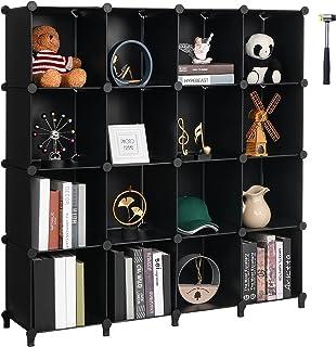 ANWBROAD Organiseur de Rangement cubique 16 cubes DIY Armoire bibliothèque enfants Organisateurs et Rangement pour Chambre...