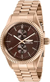 Invicta Men's Specialty Quartz Watch with Stainless Steel Strap, Rose Gold, 22 (Model: 29435)