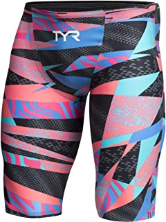 TYR Sport Girls' Neon Solid Ringback Swim Suit