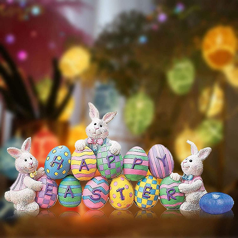 coniglietto da tavolo figurine di coniglio di Pasqua per arredamento casa statua di coniglietto di pasqua figurine acriliche di coniglio Figurine di coniglietto di Pasqua decorazioni