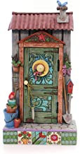Jim Shore HWC by Enesco Potters Shed Door with Garden Scene 4057691