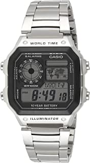 Casio Watch For Men Digital Dial Stainless Steel Band - AE1200WHD-1AV