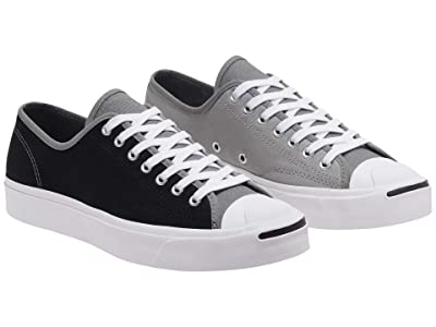 Converse Jack Purcell Color Blocked Ox (Black/Mason/Dolphin) Shoes