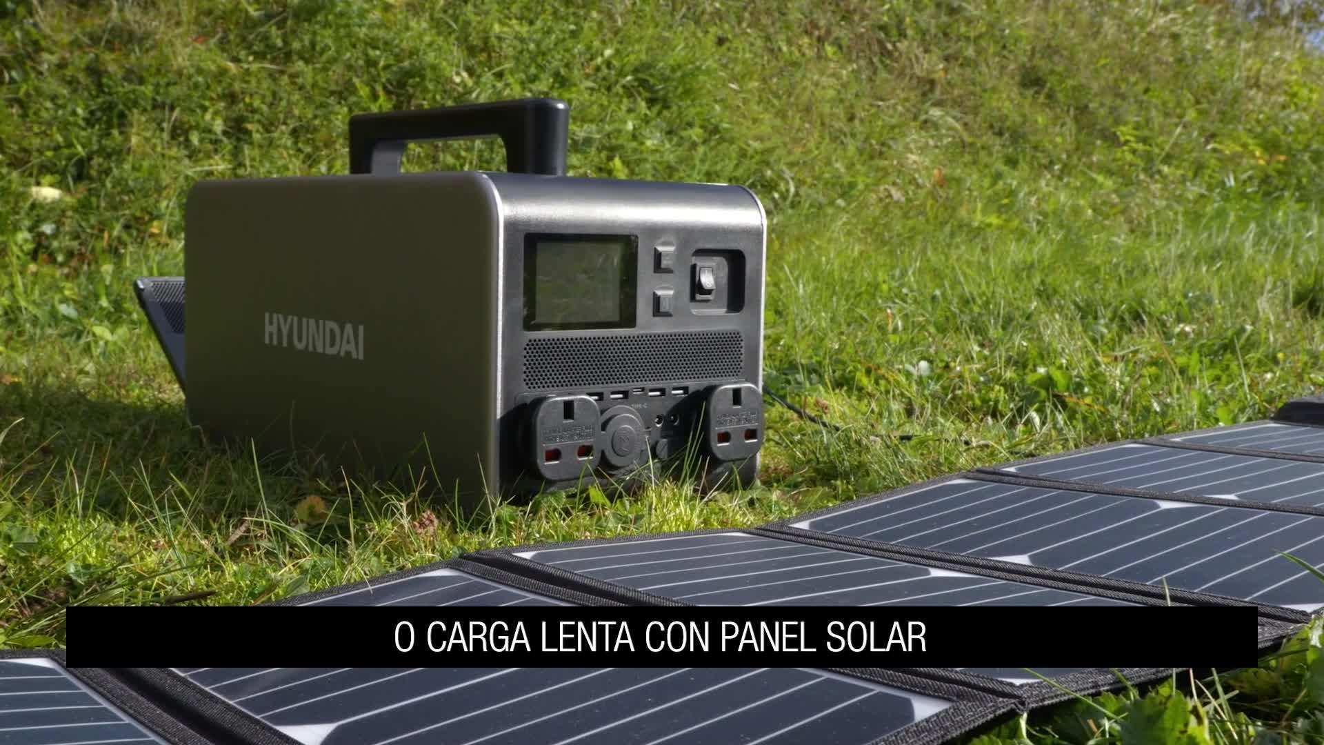 Hyundai HY-HPS1100 Generador Solar Portátil Recargable ...