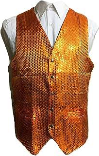 L&L® Adult Sequin Sparkle Waistcoat Dance Show Fancy Dress Costume Scales