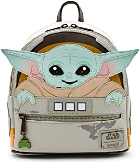 کیف پول شانه Loungefly Star Wars Baby Yoda in Crib The Mandalorian Womens Double Band Shoulder کیف دستی