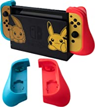 [Upgraded] ButterFox Dockable Trigger Hand Grip Case for Nintendo Switch Joy-Con (Left Blue/Right Red)