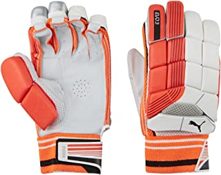 Puma, Cricket, Evo 3 Batting Gloves, Youth, Fiery Coral/White, Left Hand