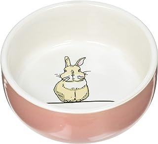"""Nobby Ceramiczna miska""""Rabbit"""" w kolorze łososia/biała Ø 11 cm x 4,5 cm"""