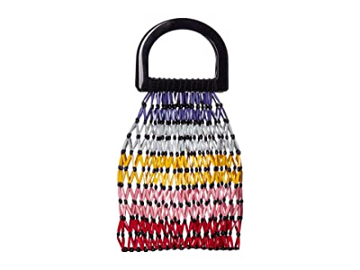 Alice + Olivia Selena Beaded Handle Bag (Multi) Handbags