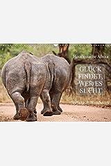 AFRIKA - Glück findet, wer es sucht (Wandkalender 2021 DIN A3 quer) Kalender