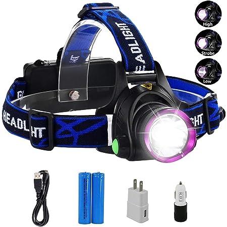 LED Head Torch USB Rechargeable Super Bright Waterproof Headlamp Headlight