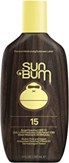 Sun Bum Original Moisturizing Sunscreen SPF 15 Lotion - Broad Spectrum UVA/UVB - Water Resistant & Non-Greasy Protection, Hypoallergenic, Paraben Free, Gluten Free - SPF 15 - 8 oz. Bottle - 1 Count