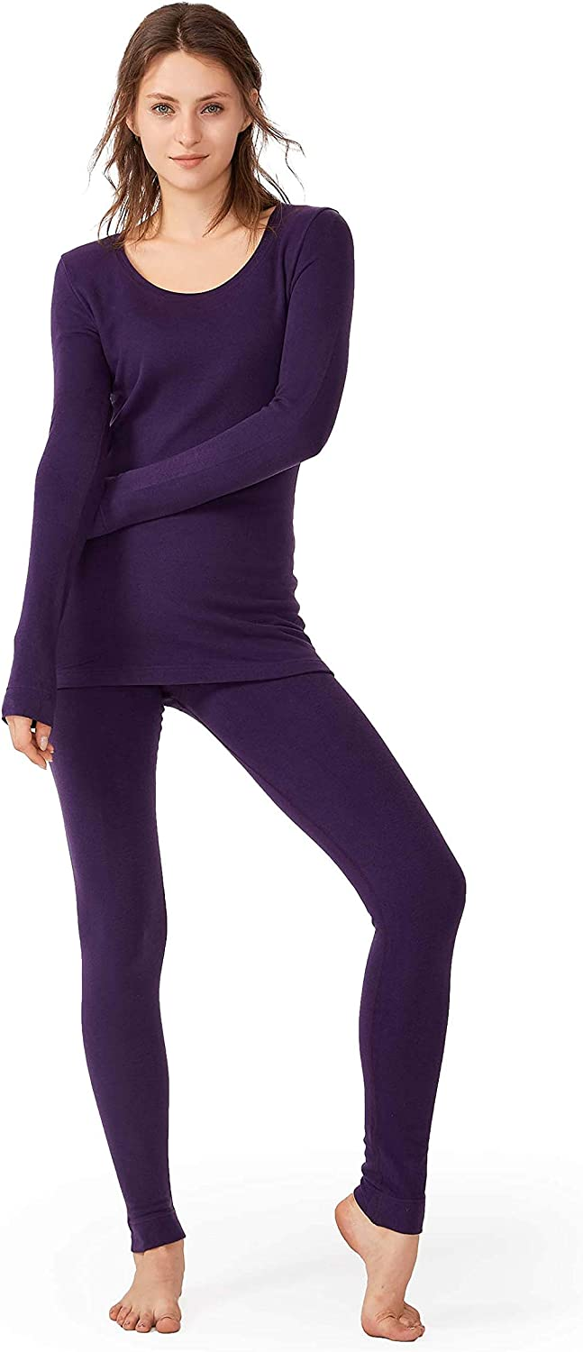 Femofit Thermal Underwear for Women Soft Top & Bottom Base Layer Set Comfy Thermals Set S~XL