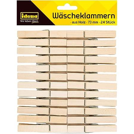 Glorex 6 2200 651 Wäscheklammern Aus Unlackiertem Birkenholz Ca 25 Mm Groß 45 Stück Ideal Zum Basteln Und Dekorieren Für Fotoleinen Tischkärtchen Grußkarten Spielzeug