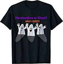 Funny gift Halloween costume Marshmallow or Ghost Who cares T-Shirt