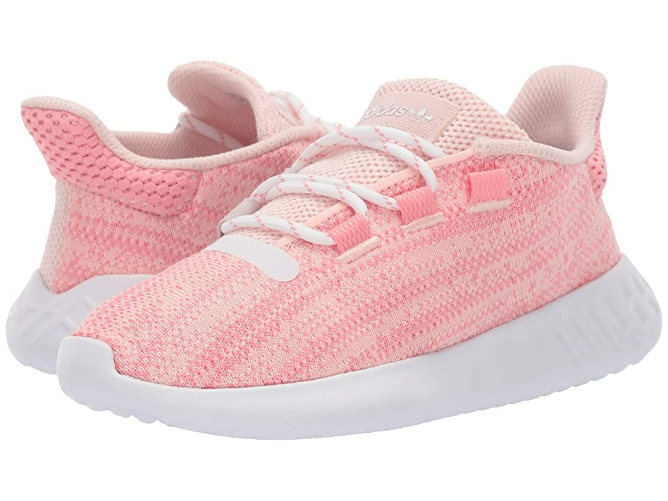 adidas Originals Kids Tubular Dusk C (Little Kid) (Ice Pink/Pop/White) Girls Shoes