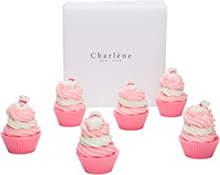Handmade Soap Cupcake Gift Sets -Perfect Gifts For Birthdays, Women, Teens, Kids,Wedding & Party Favors - USA Made By Charlene New York