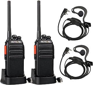 Retevis RT24 Walkie Talkie Recargable, Walkies Profesionales, PMR446 sin Licencia 16 Canales CTCSS/DCS VOX, Walkie Talkie ...