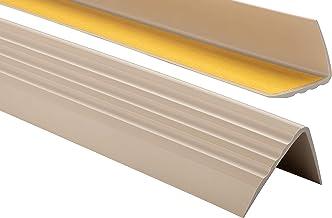 ProfiPVC Zelf klevende PVC trap neus - trapprofiel van getest PVC, anti-slip, 50x40mm 130cm, Beige