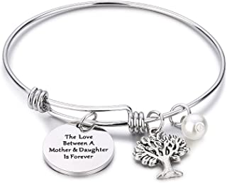 NIYOKKI Mom Bracelet The Love Between A Mother and Daughter is Forever Tree of Life Charm Bracelet Mothers Day Gifts