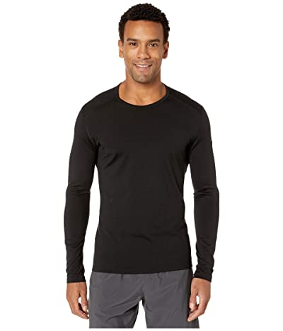 Icebreaker Oasis Mid-Weight Merino Long Sleeve Crewe (Black 1) Men