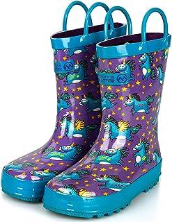 أحذية المطر للأطفال الصغار من أوتدور ماستر، خالية من البيسفينول، سهلة الارتداء للأولاد والبنات