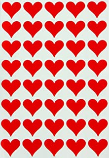 large red heart stickers