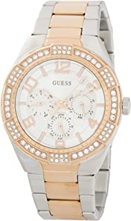 Guess Womens Quartz Watch, Analog Display and Stainless Steel Strap W0729L4