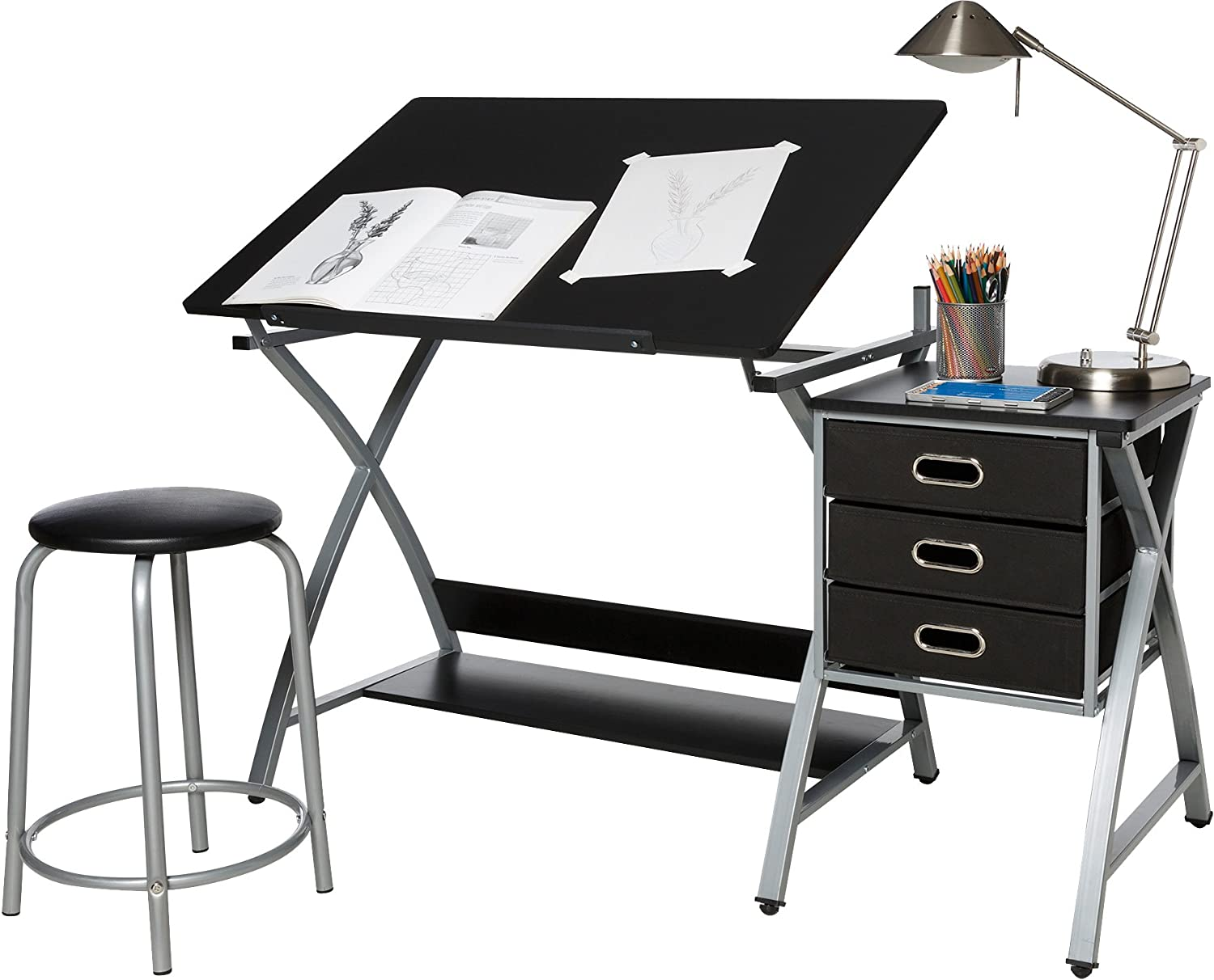 Limited Special Price OneSpace Craft Station Black and Silver lowest price