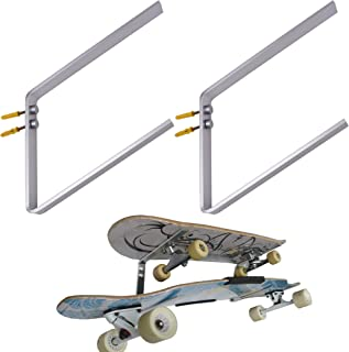 YYST Two - Layers Skateboard Deck Wall Mount Hanger Longboard Wall Rack Holder Storage - No Boards Included -Hold Two Boards