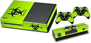 Skins Stickers for Xbox One - Custom Xbox One Console Remote Controller Protective Vinyl Decals Covers - Leather Texture Protector Accessories Fit Xbox 1 Controller - Biological Hazard