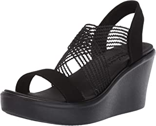 Skechers RUMBLE UP - CLOUD CHASER - High Wedge Cross Band Slide womens Wedge Sandal