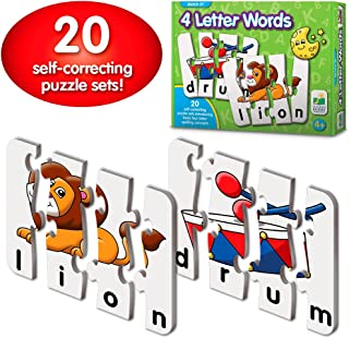 The Learning Journey: Match It! - 4 Letter Words - 20 Self-Correcting Reading & Spelling Puzzles with Matching Images