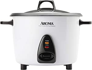 Aroma Housewares ARC-360-NGP 20-Cup Pot-Style Rice Cooker & Food Steamer, White